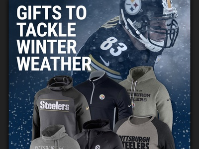 Steelers Winter Weather email steelers nfl ecommerce