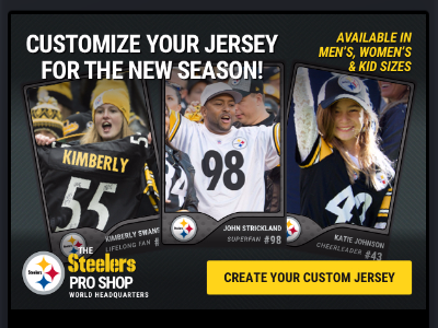 Fan Trading Cards ecommerce email steelers nfl made with invision