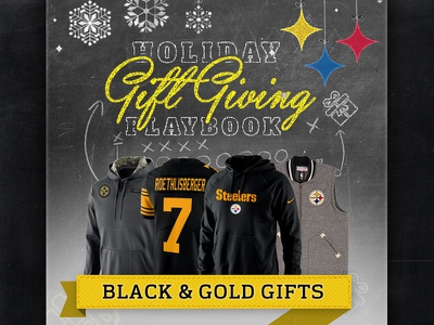 Steelers Holiday Gift Guide marketing email e-commerce ecommerce nfl steelers