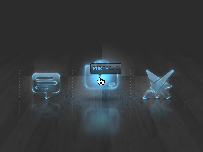 Portfolio website icons mouseover state dark icon icons interface ui navigation mouseover tooltip rollover gui interactive