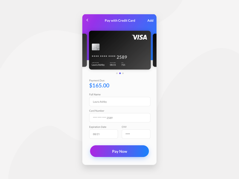 Pay with Credit Card daily ui challenge daily ui credit card form payment credit card