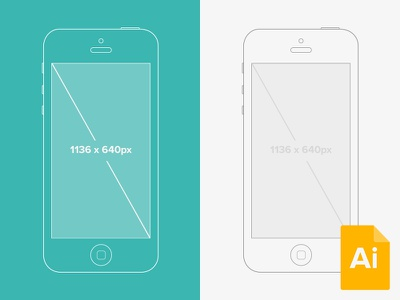 Illustrator iPhone 5 Wireframe Mockup fribbble ai popular shots ui illustrator mockup wire frame wireframe iphone iphone5 free psddd flow freebie yellow orange line clean green app design outline ios7 ios