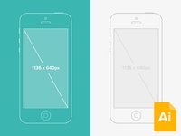 Illustrator iPhone 5 Wireframe Mockup