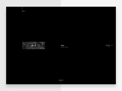Portfolio - Home portfolio type ux typography flat minimal interface ui web journal website