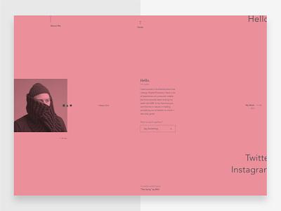 Portfolio - About Me website journal web ui interface minimal flat typography ux type portfolio