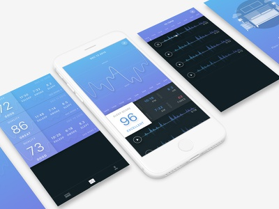 Rested flat type ux typography design minimal interface ui photography journal app iphone