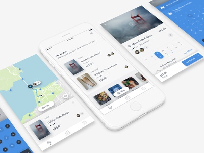 Discover flat type ux typography design minimal interface ui photography journal app iphone