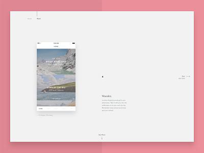 Portfolio - Product Detail website journal web ui interface minimal flat typography ux type portfolio