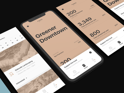 Donation App photography visuals perspective mock up clean ios type typography mobile interface minimal flat ux design ui app iphone