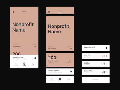 Funds design app design system components red icon clean ios type typography mobile interface minimal flat ux design ui app iphone