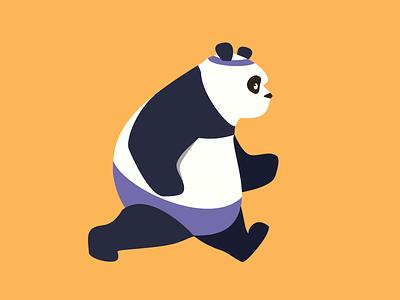 Run panda illustrations role run