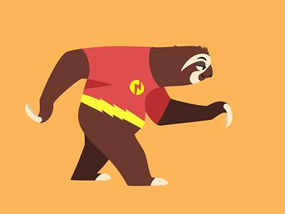 Flash sloth illustrations role go