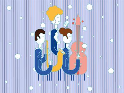 24th International Izmir Jazz Festival Poster Illustration jazz color afiş tasarımı afiş design digital poster design poster illustration