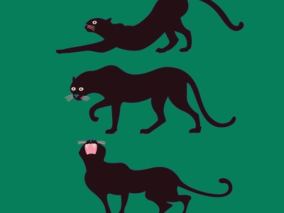 Hanging Out at the Late Night Club true love yoga party jungle leopard cat illustration graphic design