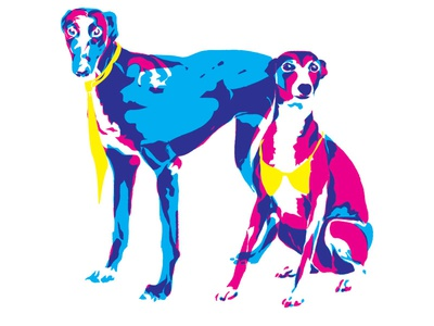 Business & Pleasure hell as cute pleasure business greyhounds dogs