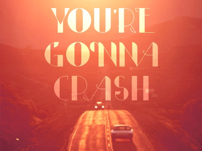 Crash summer typography type