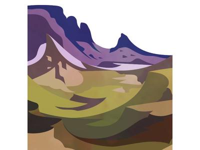 The Quiraing mountains landscape skye scotland