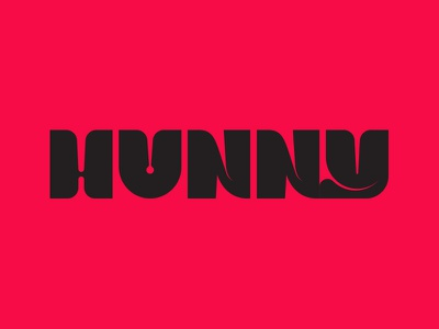 Oh Hunny sex logo typography type
