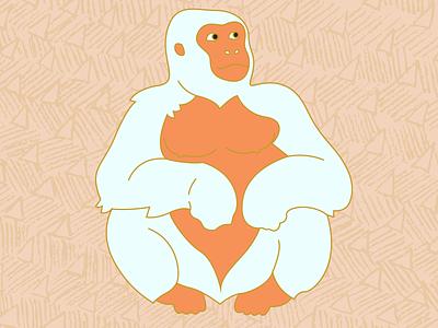 Suns Out pattern proud gorilla white gorilla