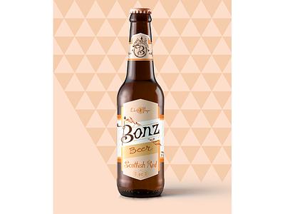 Bonz Beer alcohol beer cat branding vector design typography type