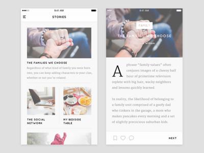 Blog App User Interface