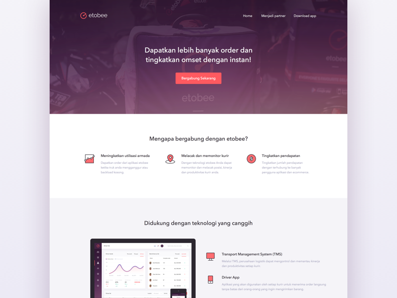 Landingpage for Partners icon ux ui clean web minimal