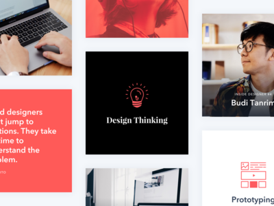 Instagram Grid - Insight Design quote illustration red social media design grid instagram