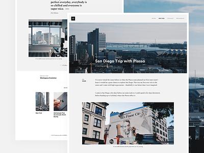 #007 Blog Post desktop ux ui post website blog