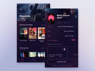 #009 Cinema App Exploration home screen check out minimal ux ui movie app movie cinema app