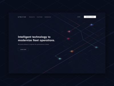 Landing page for fleet operations company - Stratim