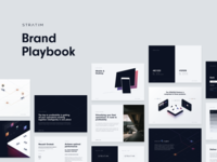 STRATIM – Brand Playbook illustration isometric typography colors ui style guide mobility brand playbook brand guidelines