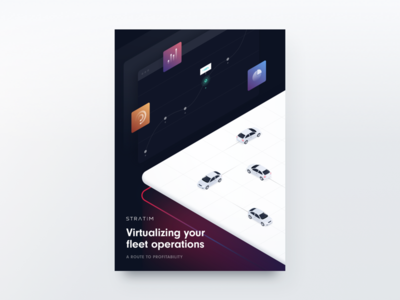White Paper Cover mobility isometric illustration cover white paper