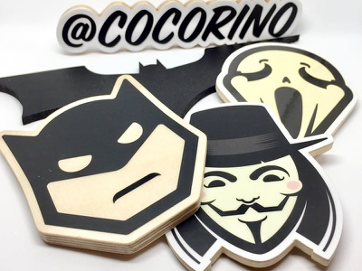 Wooden magnets stickermule illustration movies artwork stickers graphicdesign design cocorino woodentoys magnets handmade woodworking