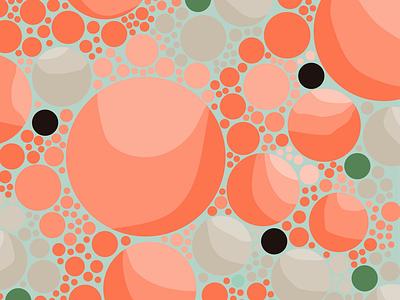 Bubbles art design texture bubbles circles abstract geometric illustration