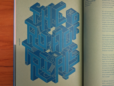 The Road of Trials [rebound] print quarterly mohawk poster isometric geometric typography lettering illustration type