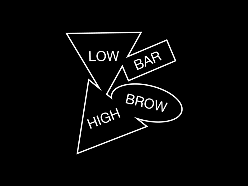 Low Bar High Brow minimal black and white geometric geometry typeface typography type