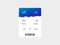 Boarding Pass Animation