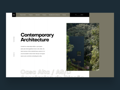 Architecture Website Exploration