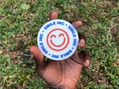 SMILE INC. STICKER