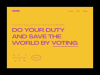 Daily UI – Site Dedicated to Voting