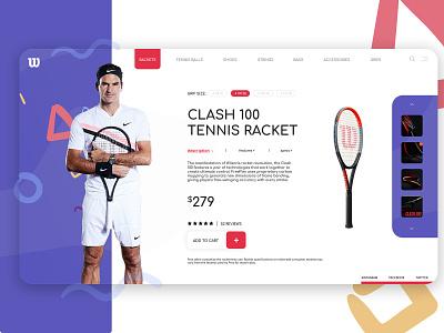 Wilson Landing Page shop ecommerce tennis federer wilson web landing page homepage design concept ux ui website web design webdesign