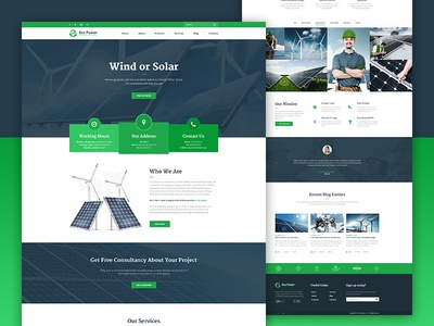 Ecopower | Alternative Sources wind turbines solar panels solar renewable energy organic green energy eco alternative site design web