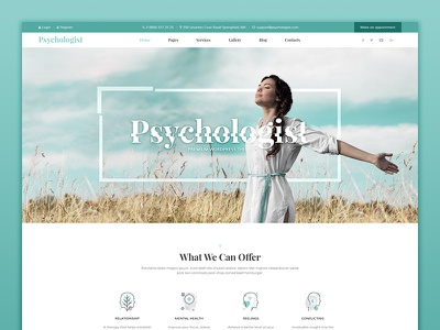 Psychology | Personal Page therapy therapist service rehabilitation psychology psychologist psychological therapy psychiatrist mental health site design web