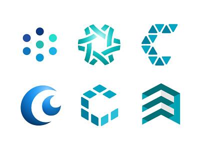Corporate Identity logo mark identity brand corporate c network data virtual solutions options