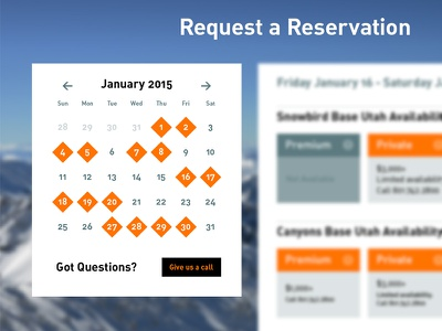 Reservation Calendar calendar reservation ui ux interface availability available buttons
