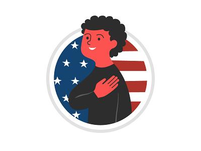 Unused Badge - Pledge of Allegiance badge united states allegiance pledge america flag