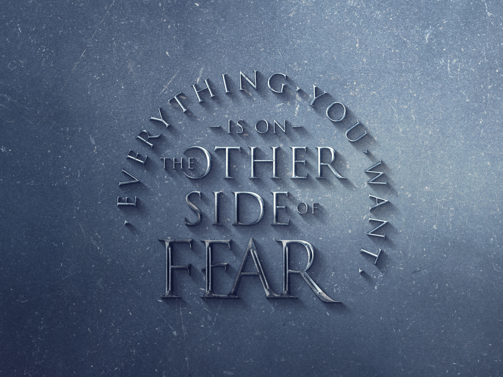 Everything you want is on the other side of fear inspirational quotes quote design typographic design type typography