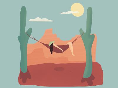 desert desert relaxing illustrator graphic calm character flat illustration