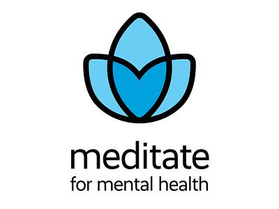 Loving Meditation mental health yoga meditation branding vector digital flat logo