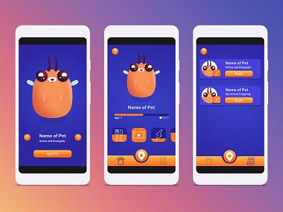 Pocket Pet tamagotchi pet icons fun vector game art illustration game